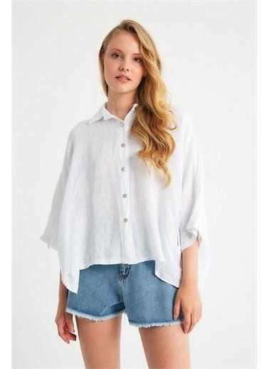 Robin Gömlek Beyaz